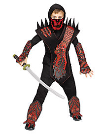 Kids Skull Dragon Ninja Costume