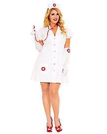 Adult Seductive Nurse Plus Size Costume