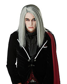 Sleek Gray Vampire Wig