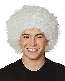 White Afro Wig