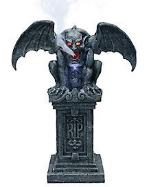 3 Ft Sinister Gothic Fogging Gargoyle –Decorations
