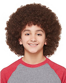 Kids Brown Afro Wig