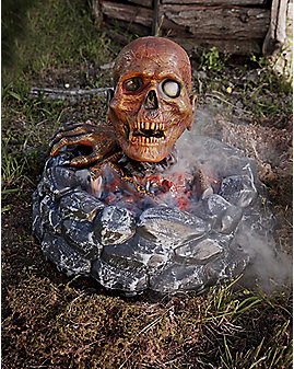 15 Inch Campfire Zombie Animatronics - Decorations