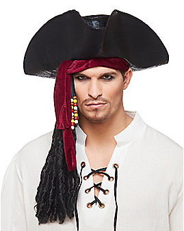 Pirate Hat with Hair