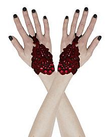 Burgundy Lace Wristlets