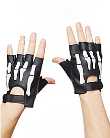 Skeleton Moto Gloves