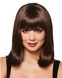 Brown Pageboy Wig