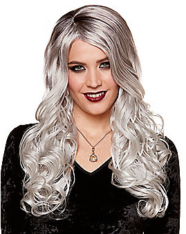 Gray Curly Wig