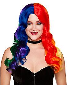 Rainbow Curls Wig