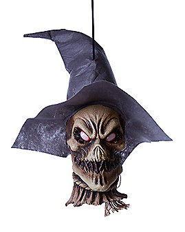 18.5 Inch Hanging Scarecrow Head - Decorations