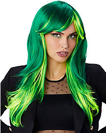 Green Ombre Wig