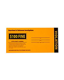 Halloween Party Violation Tickets