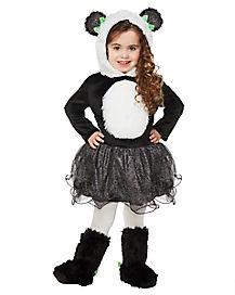 Kids Panda Bear Tutu One Piece Costume