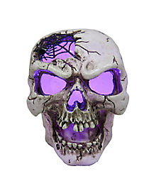 Purple LED Light Up Skull