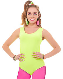 Neon Green Leotard