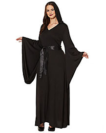 Adult Black Hooded Dress
