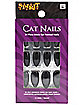 Black Cat Pointed Nails