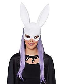 White Glitter Bunny Mask