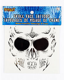 Boys Skull Face Tattoo