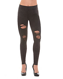 Charcoal Distressed Jeggings