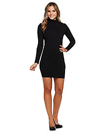 Black Mock Neck Dress
