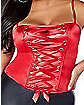 Red Lace Up Corset