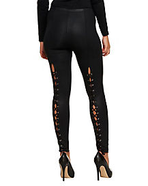Black Laceback Leggings