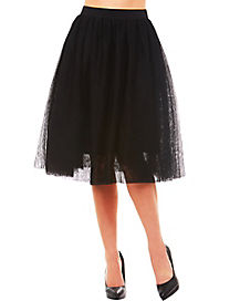 Black Long Tulle Skirt