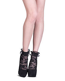 Black Lace Anklet Socks