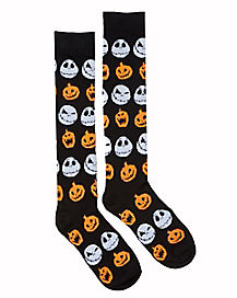 Pumpkin Jack Skellington Knee High Socks - The Nightmare Before Christmas