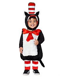 Toddler Faux Fur Cat in the Hat Belly Costume - Dr. Seuss