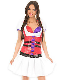 Adult Harley Quinn Nurse Corset - DC Comics