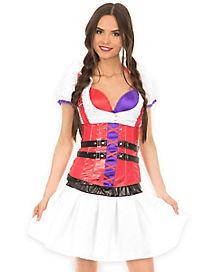 Adult Corset Harley Quinn Nurse Costume - DC Comics