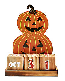 Pumpkin Halloween Countdown Calendar