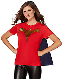 Caped Wonder Woman T-Shirt - DC Comics