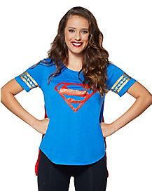 Supergirl Cape T Shirt - DC Comics