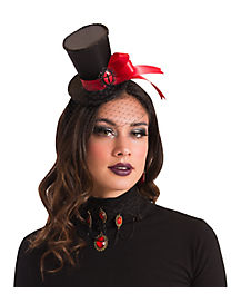Vampire Gothic Mini Hat Fascinator