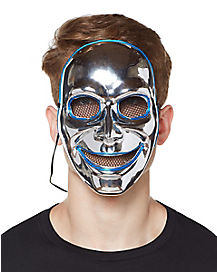 Sinister Silver Light Up Wire Mask