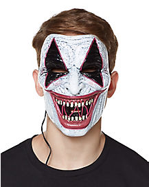 Laughing Wire Riot Clown Half Mask