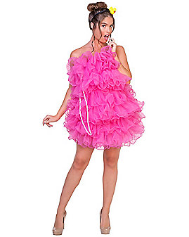 Adult Pink Loofah Costume