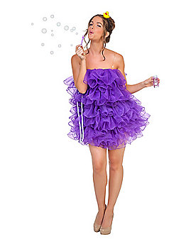 Adult Purple Loofah Costume