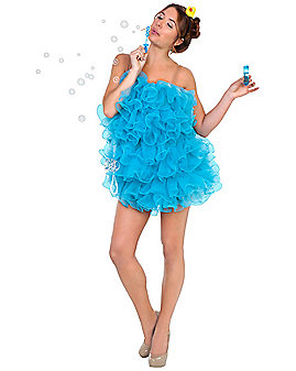 Adult Blue Loofah Costume