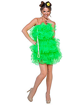 Adult Green Loofah Costume
