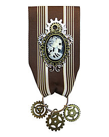 Steampunk Cameo Badge
