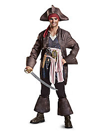 Adult Jack Sparrow Costume Deluxe - Pirates of the Caribbean