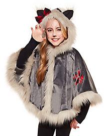 Kids Faux Fur Werewolf Poncho