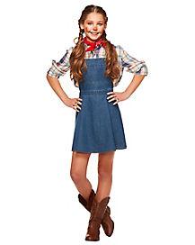 Kids Denim Overall Dress