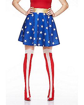 Wonder Woman Thigh-High Socks - DC Comics