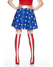 Wonder Woman Thigh-High Socks - DC Comics
