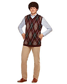 Dale Sweater Vest and Wig - Step Brothers